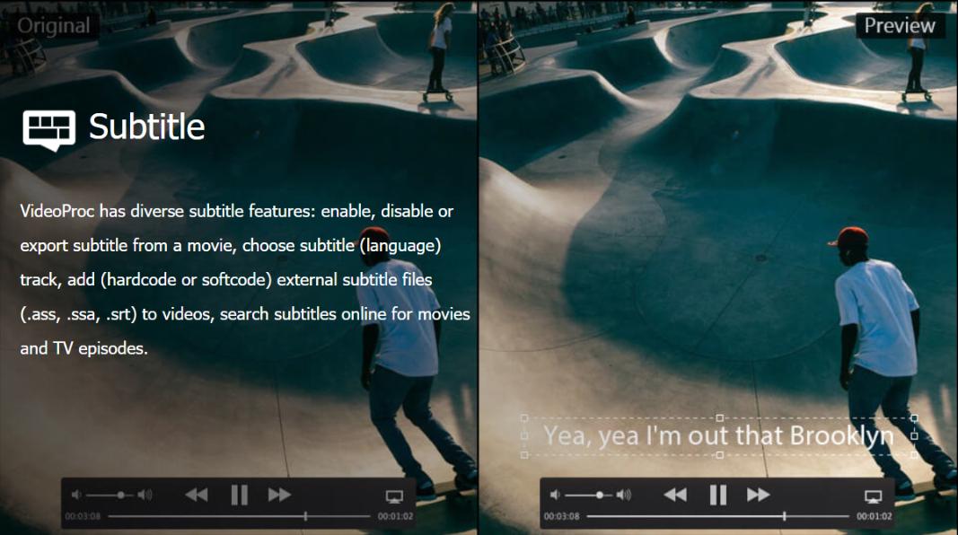 VideoProc Review - Subtitle