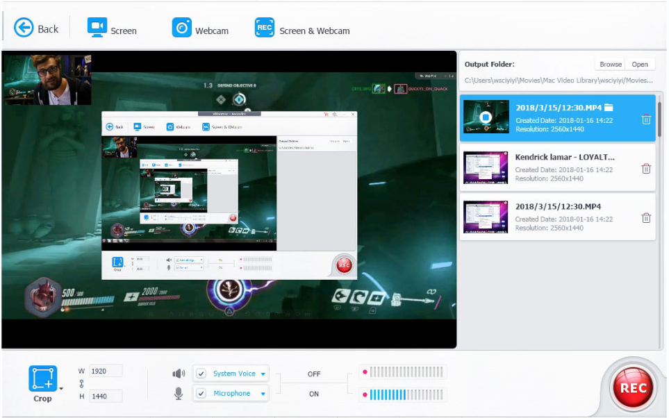 VideoProc Review - Video Recording
