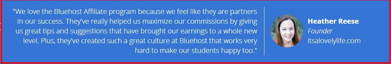 WP Engine vs BlueHost - BlueHost Testimonial