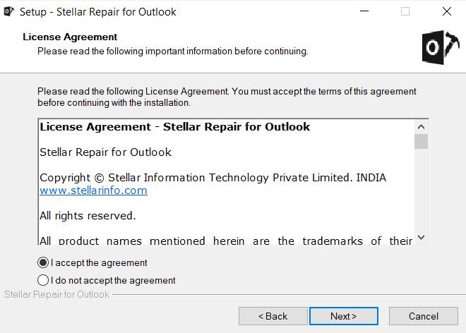 Stellar Repair For Outlook - Storage Location