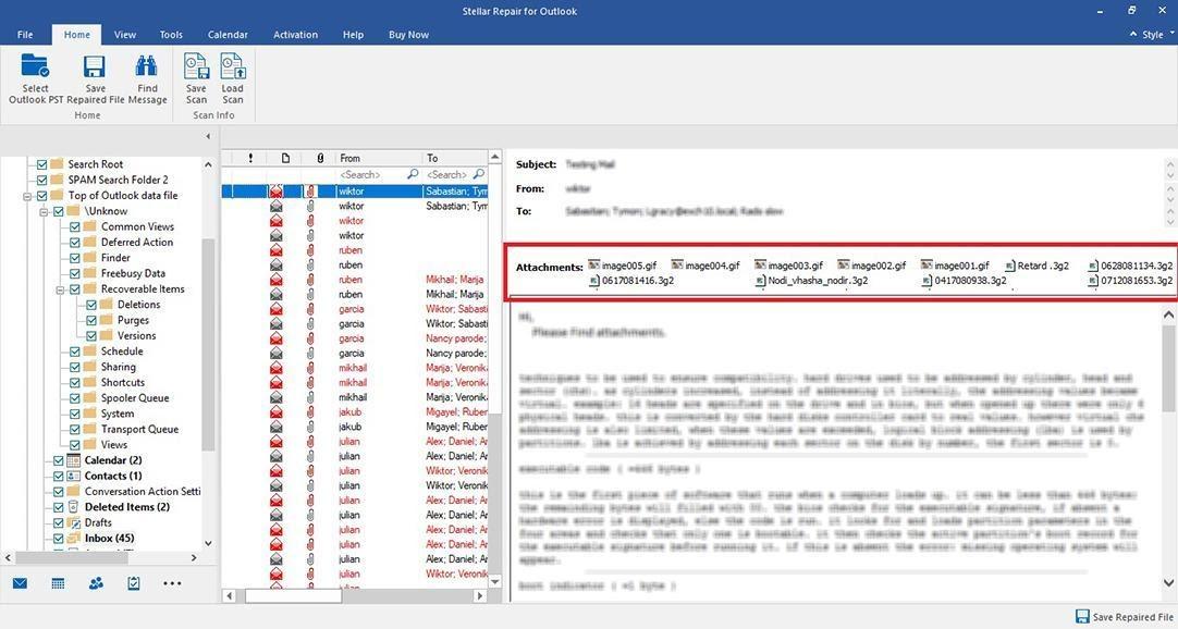 Stellar Repair For Outlook - Select Mail Box Itom