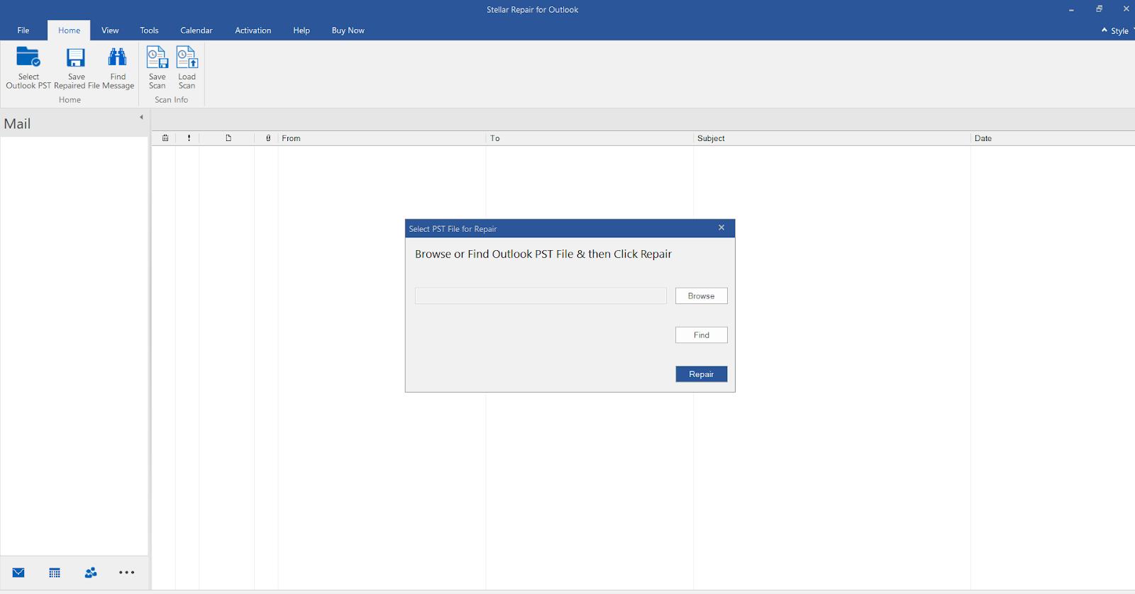 Stellar Repair For Outlook - Click On Stellar Repair For Outlook