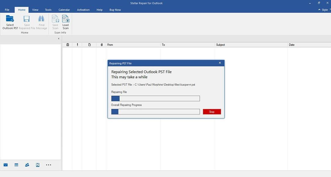 Stellar Repair For Outlook - Scan Corrupt PST