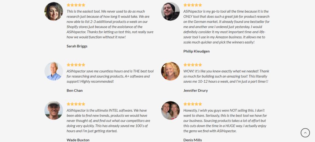 ASINspector Customer Reviews