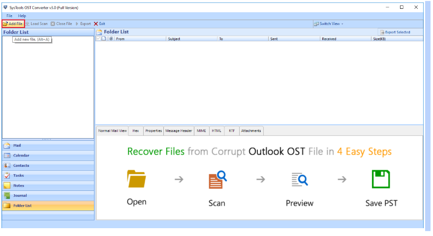 Add File & Browse
