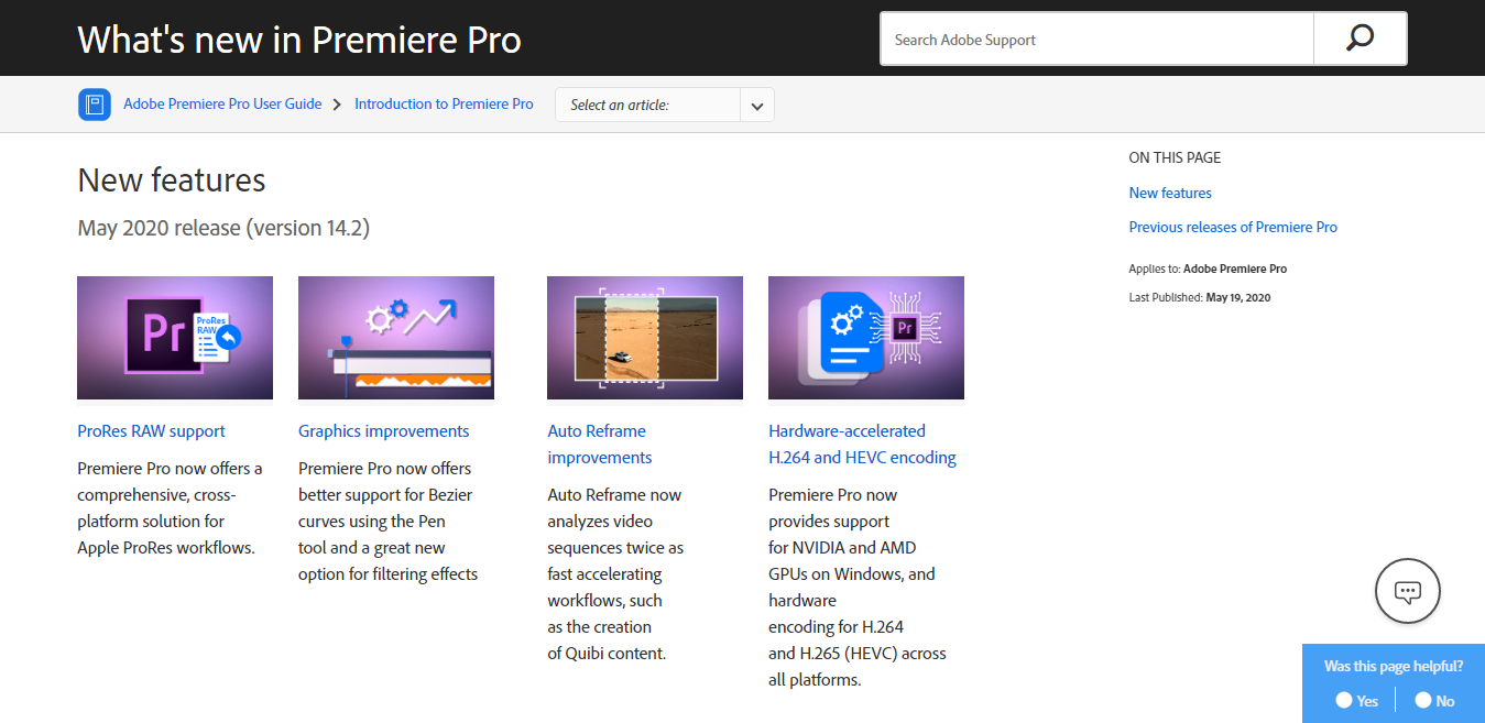 Adobe Premiere Pro Features