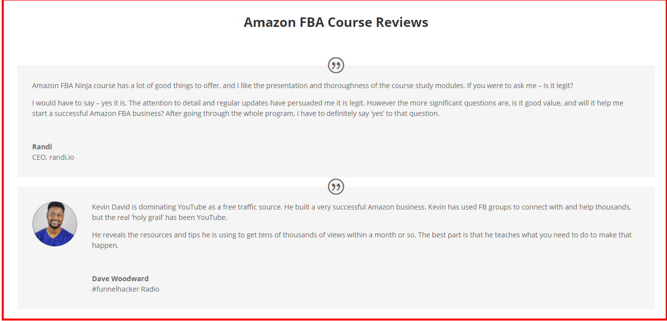Amazon FBA Course Review