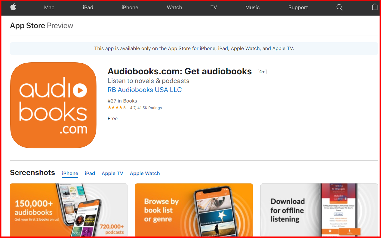 _Audiobooks - AppStore