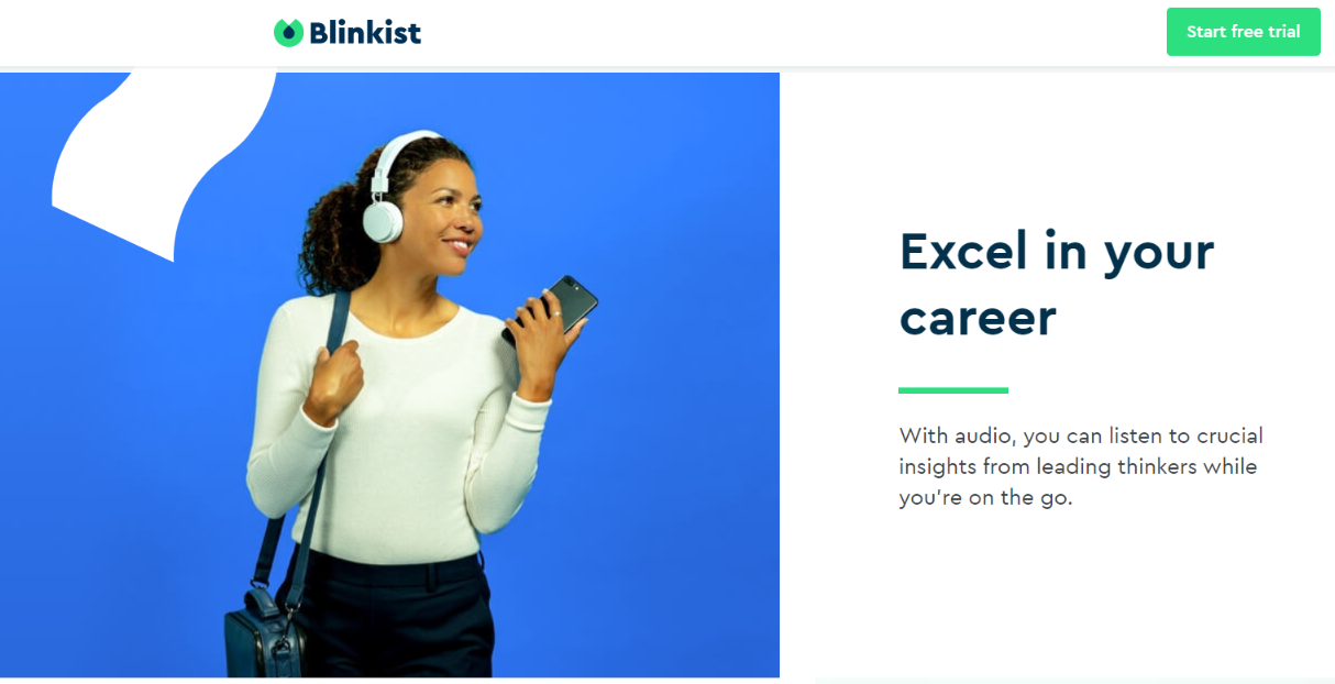 Blinkist Competitors - Exel In Your Carrier