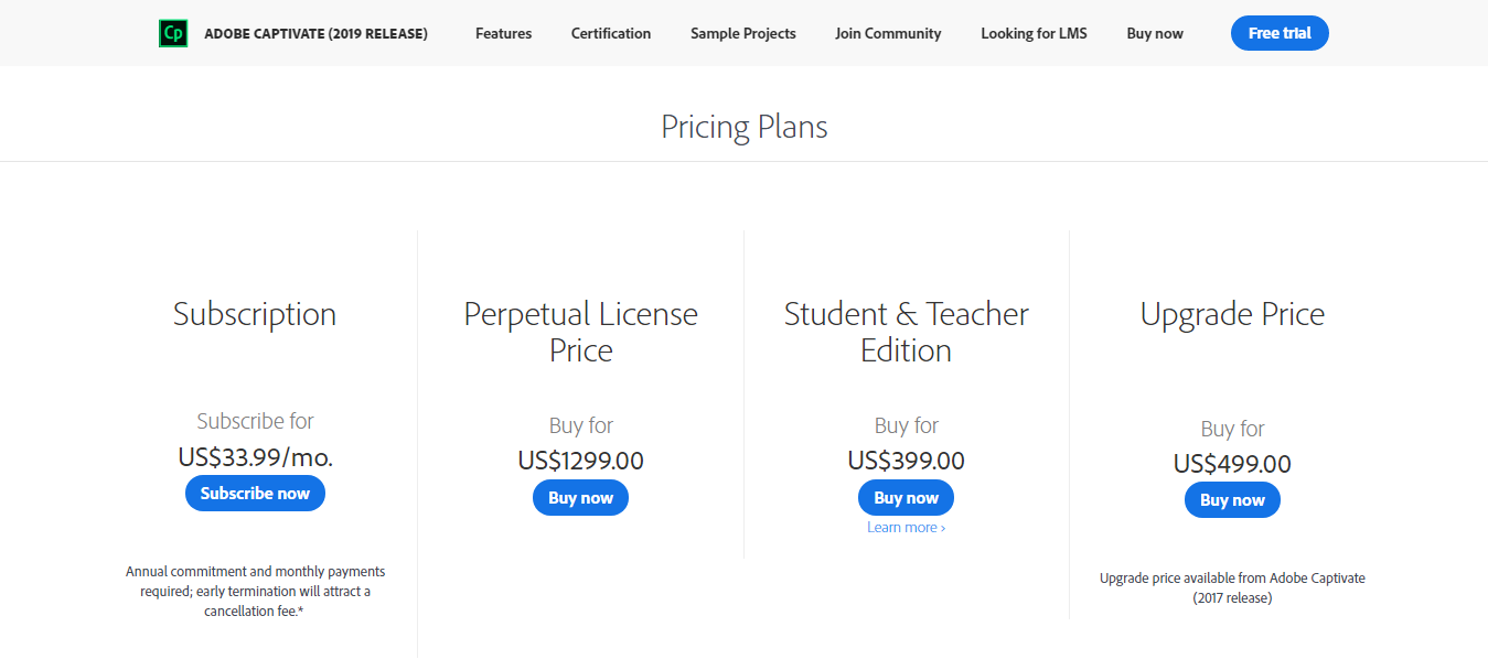 Captivate Pricing