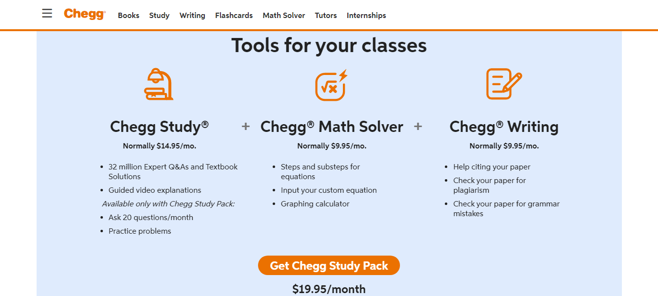 Chegg Pricing Review