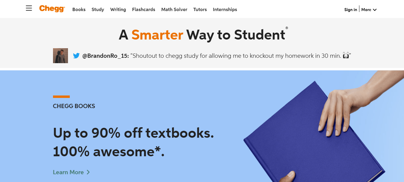 Chegg Ease of Use