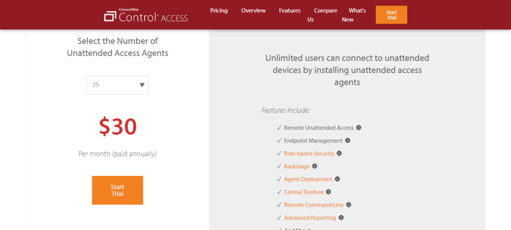 Control Access Pricing