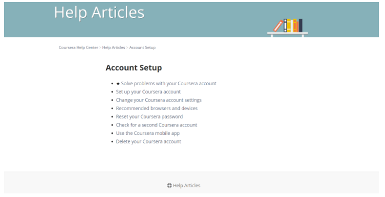 Coursera Account Setup