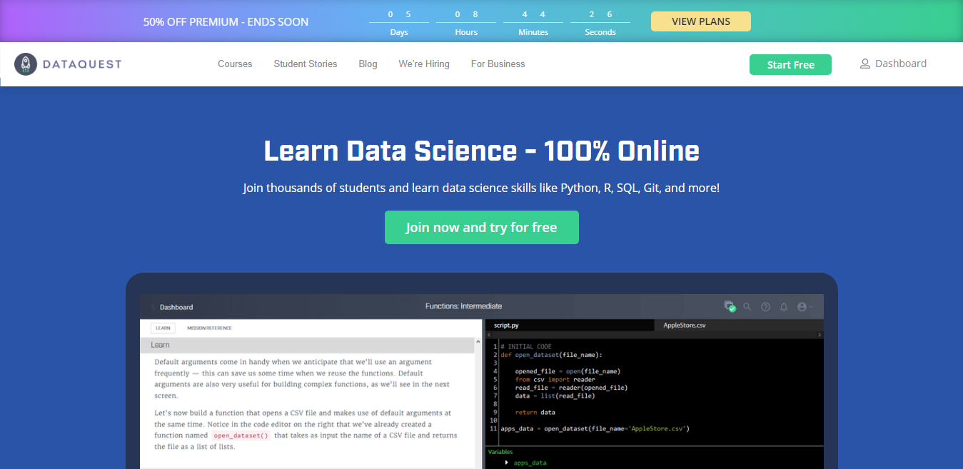 DataQuest Overview