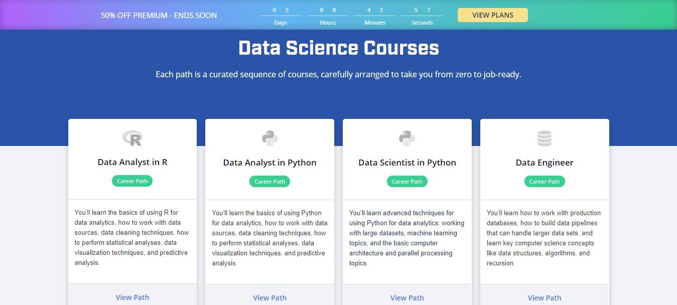 Dataquest Courses