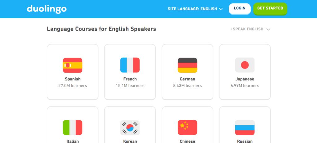 Duolingo Course Information