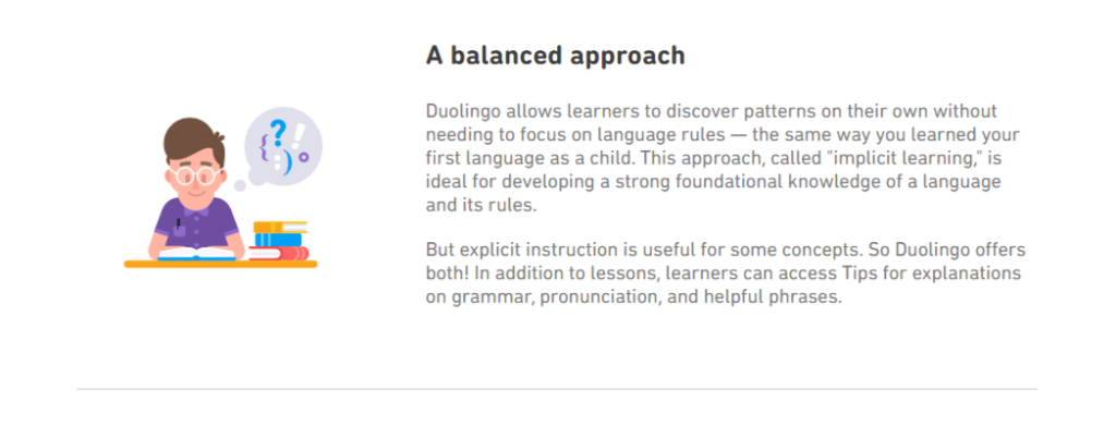Duolingo Teaching Approach
