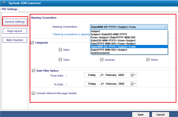 EDB Converter- Convert EDB to PST Files