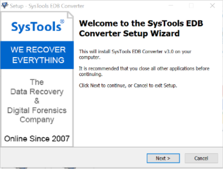 EDB Converter-Advanced File Converting Tool
