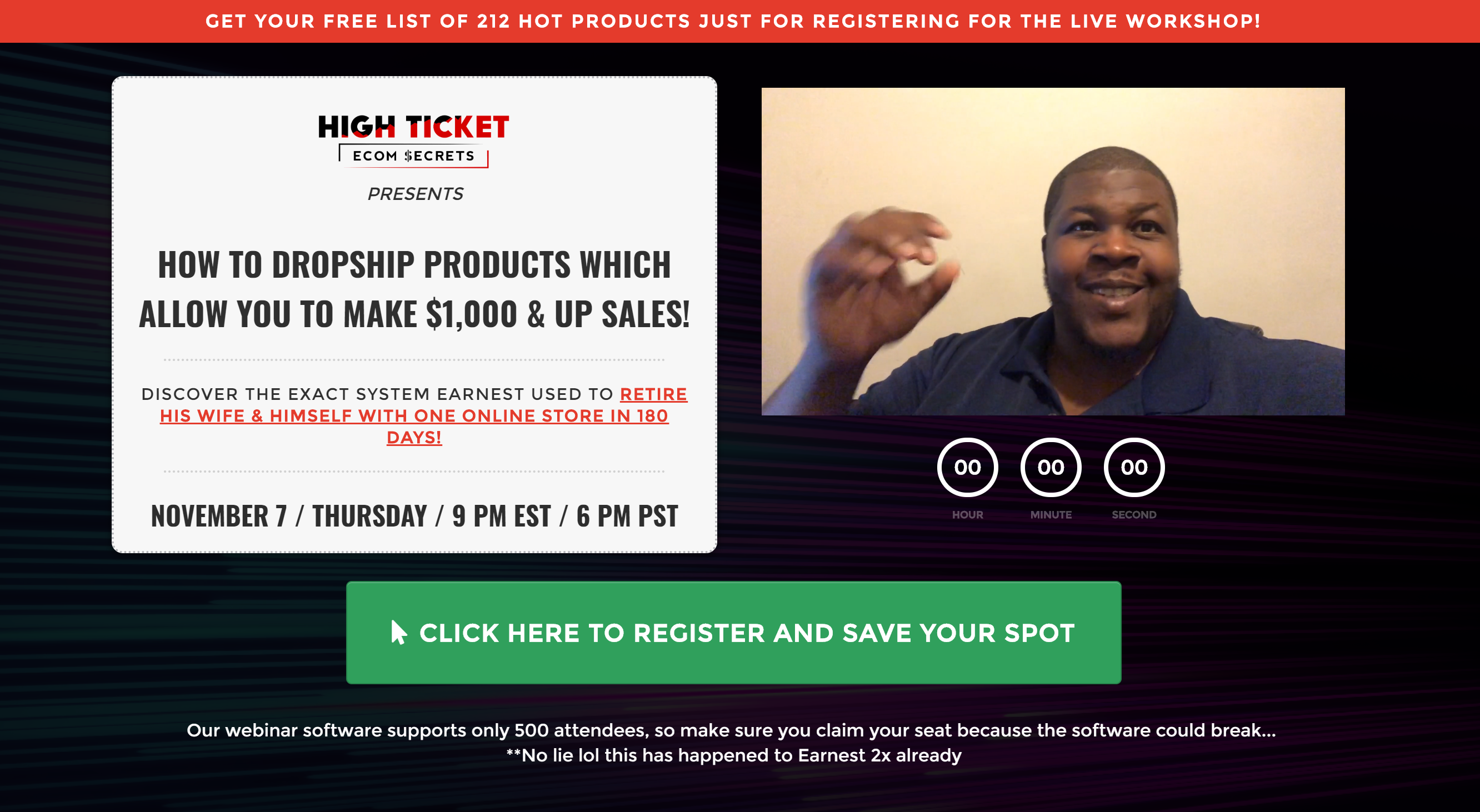 Earnest Epps High ticket dropshipping how to do high ticket dropshipping
