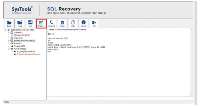 SysTools Outlook Recovery - Export