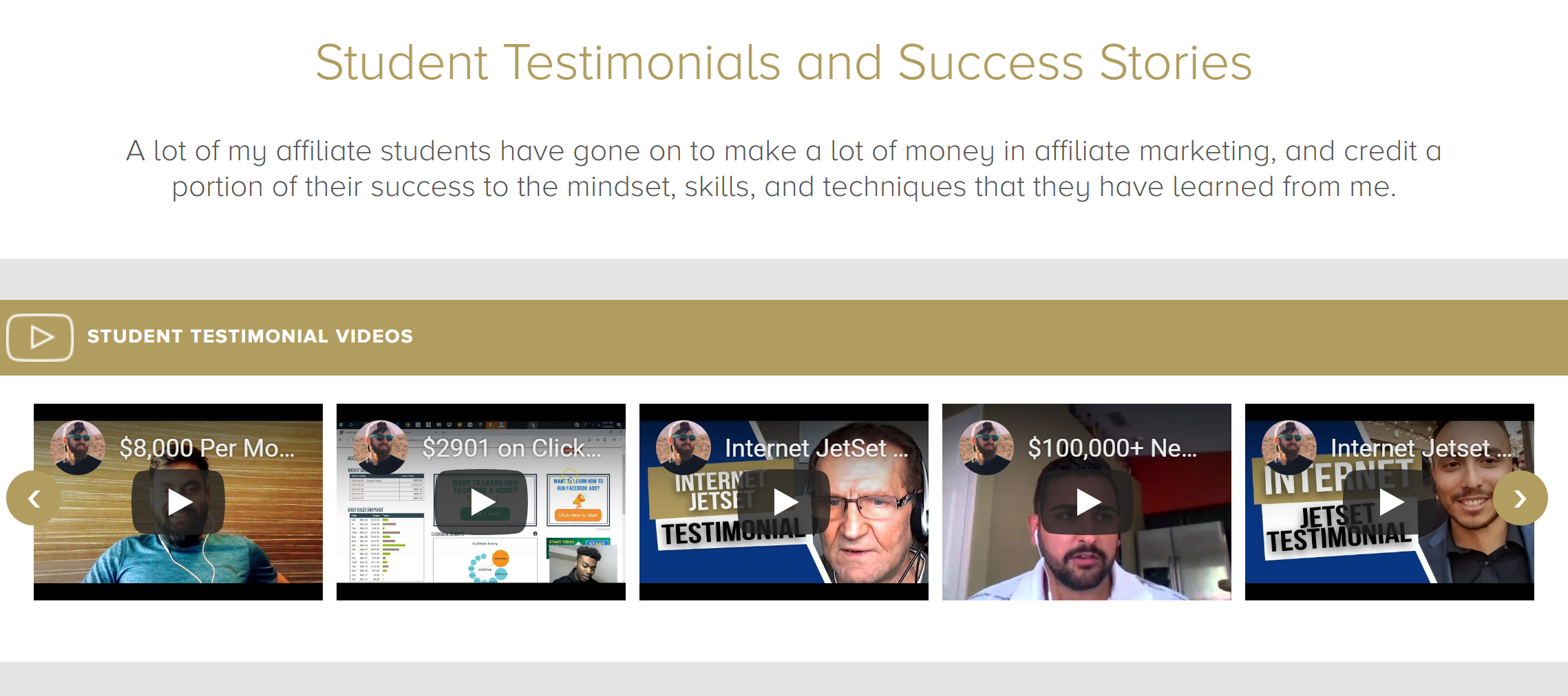John Crestani Reviews Course Testimonials John Crestani reviews