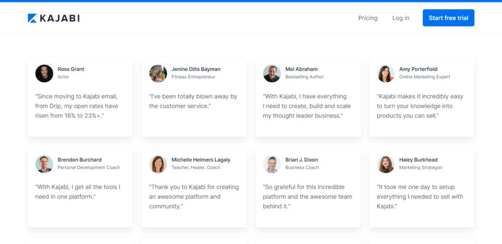 Kajabi Customer Reviews and Testimonials