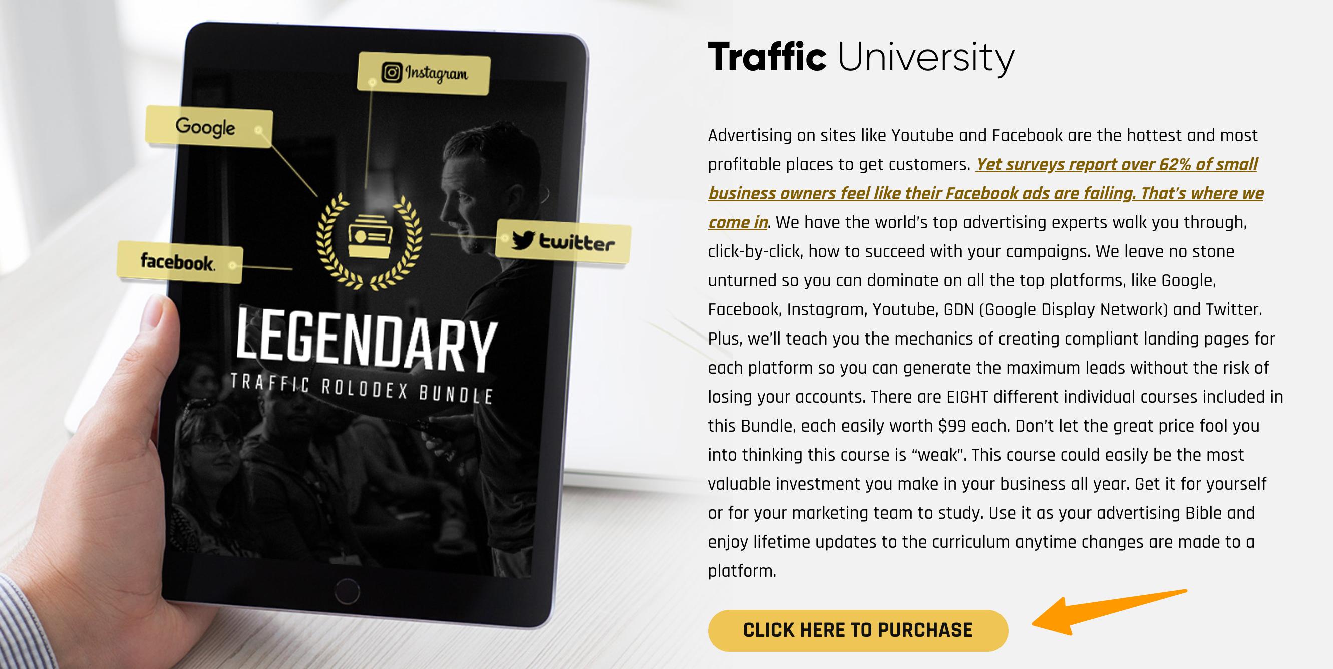 Legendary_Marketer — Traffic University