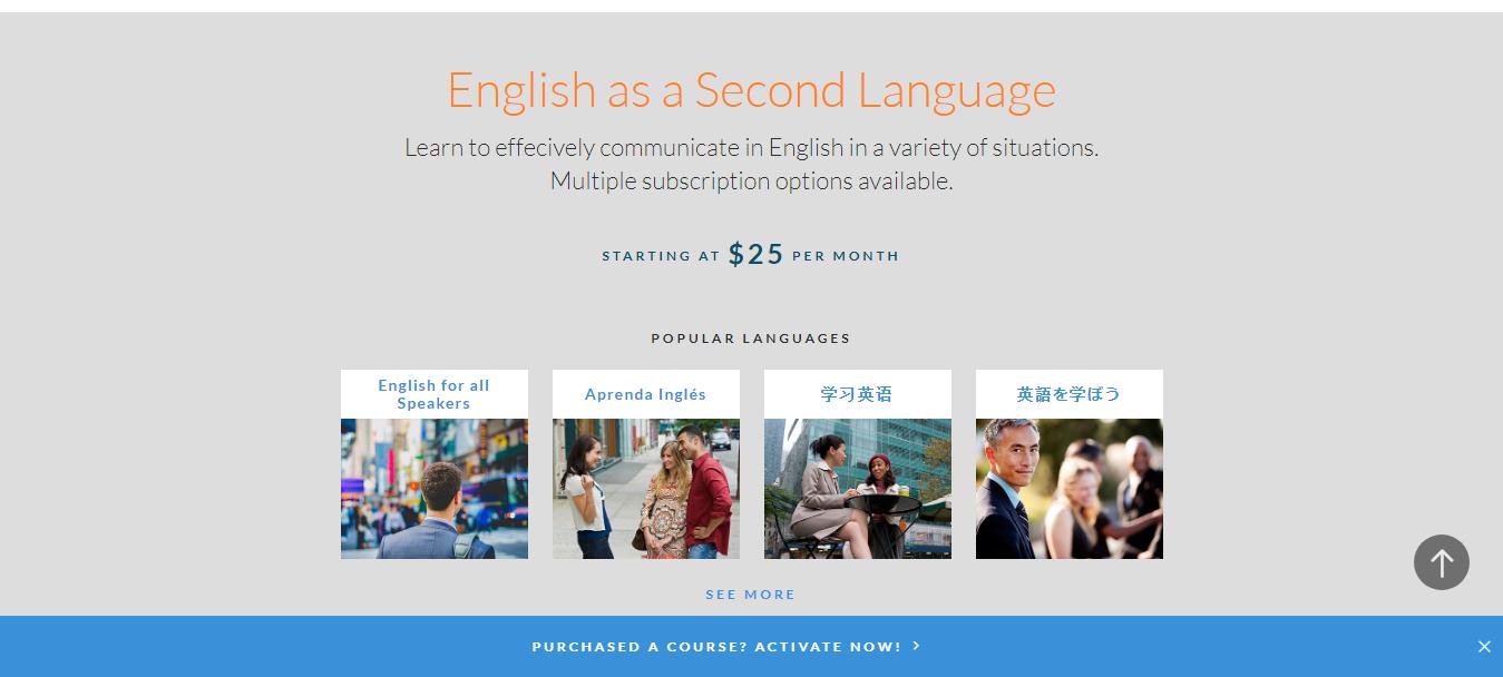 Living language Pricing