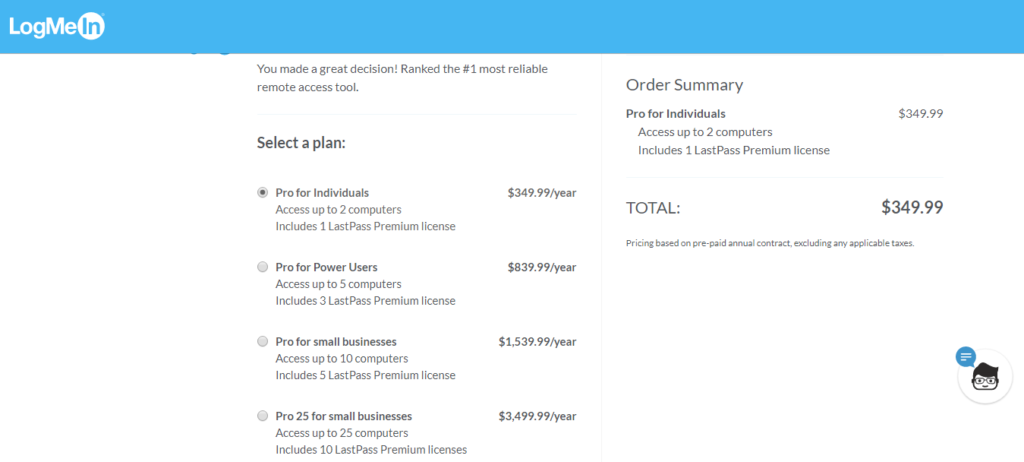 LogMeIn Pro Pricing