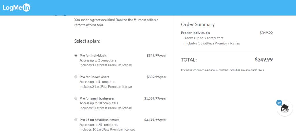 LogMeIn Pro Pricing