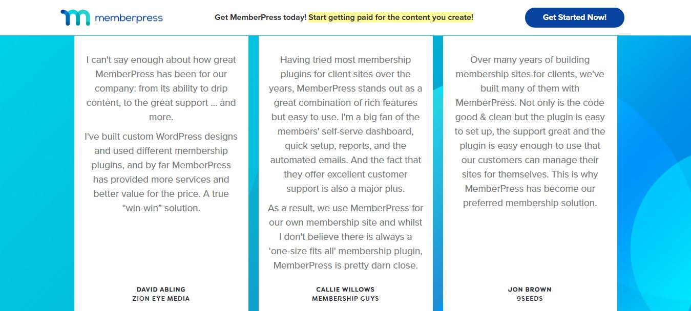 MemberPress Customer Review
