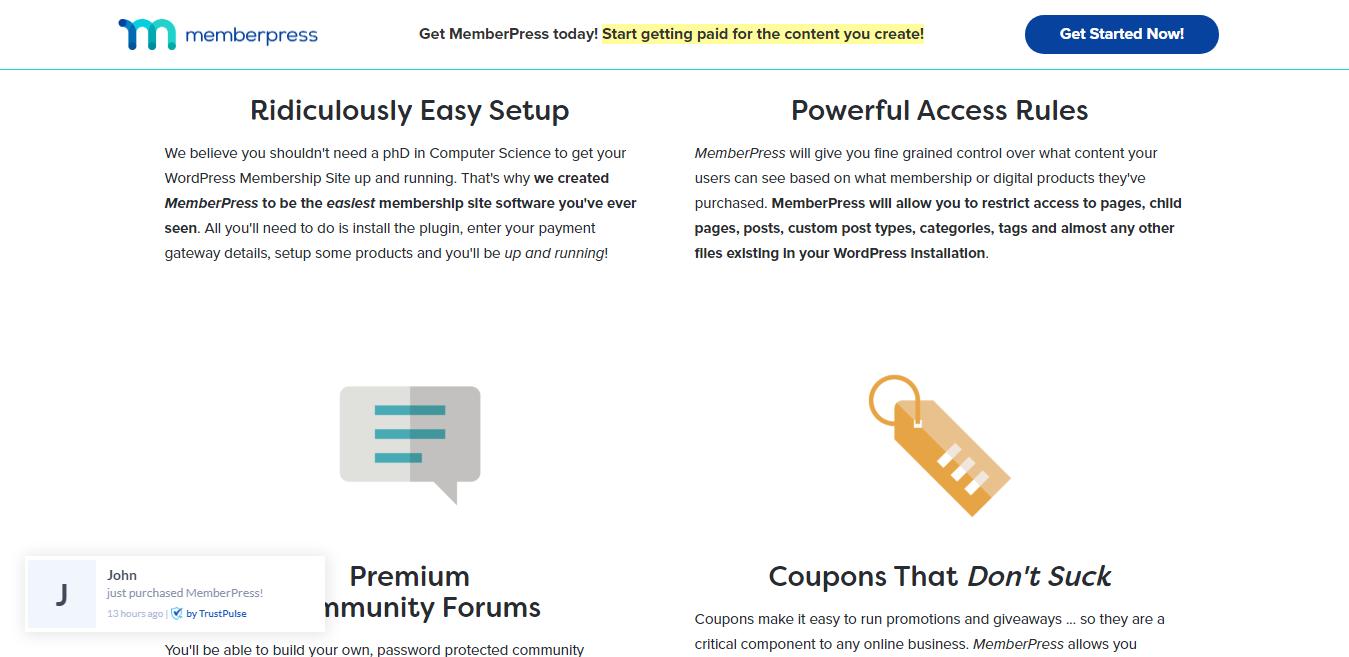MemberPress Features