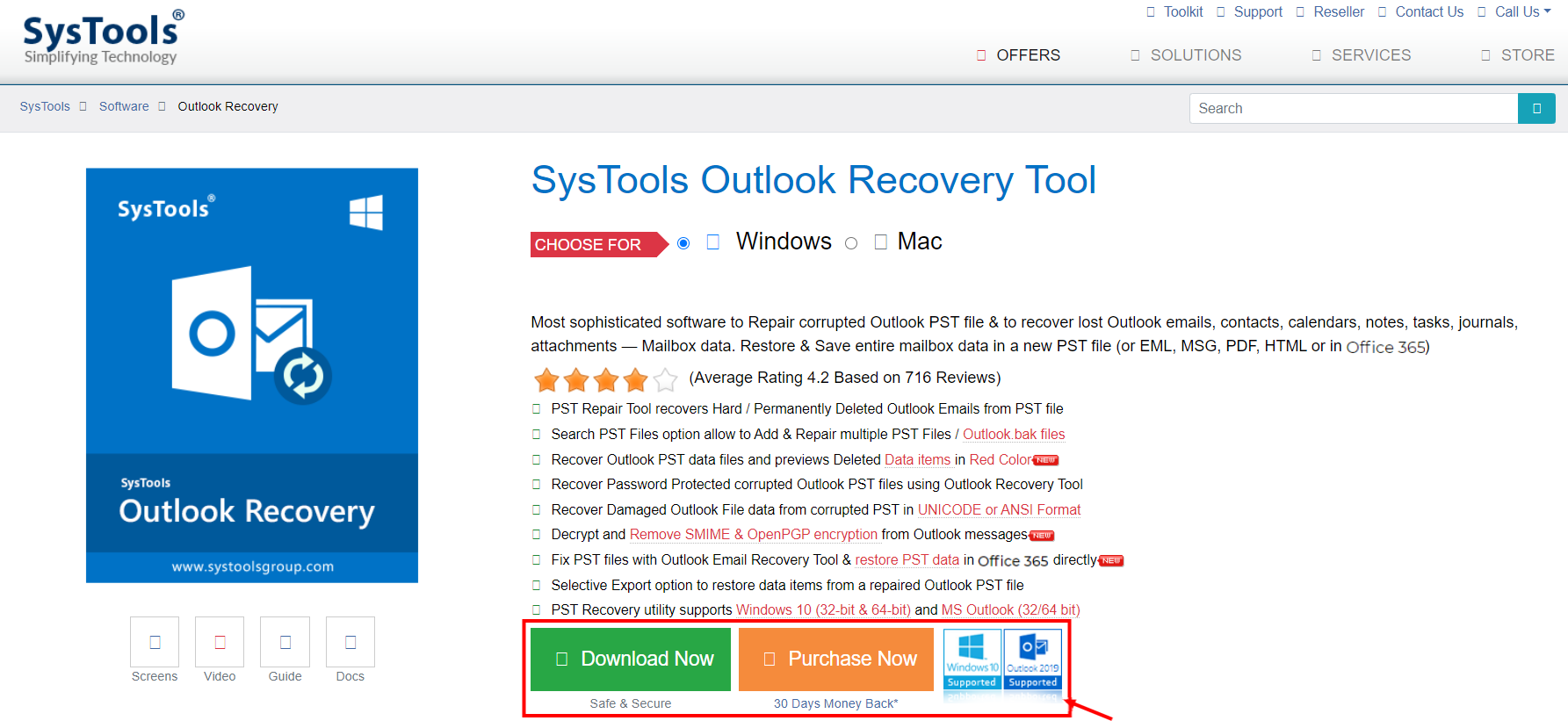 Outlook Recovery Product Review- Outlook PST Recovery