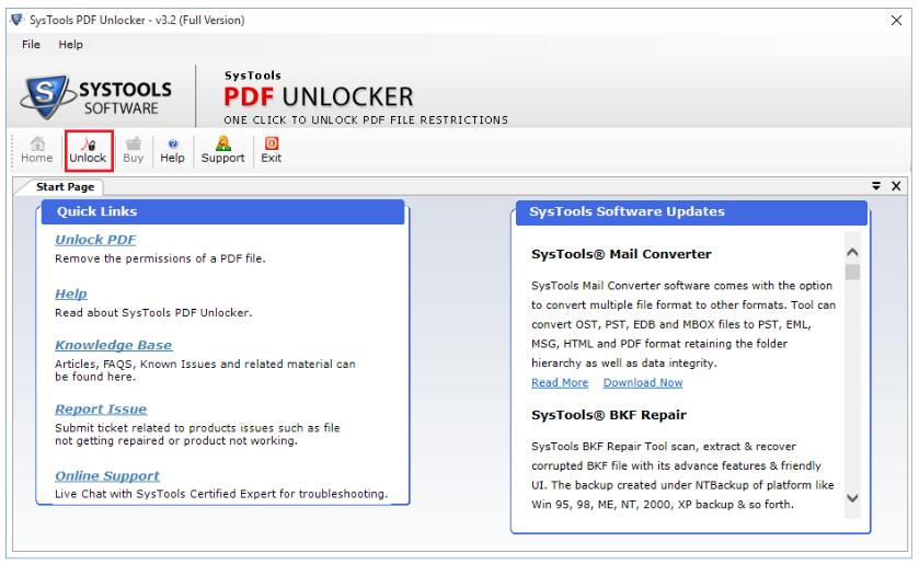 Unlocker PDF Nitro - Unlock Button