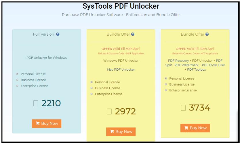 PDF Unlocker Review - Unlock PDF Pricing Plan