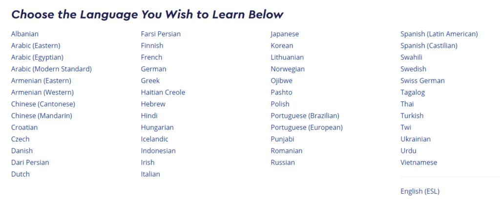 Pimsleur Language Learning