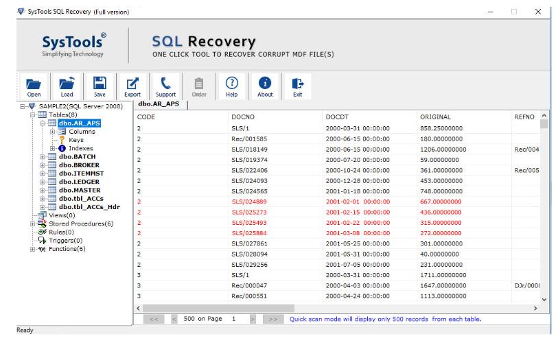 SQL Server Backup Recovery - SQL Database