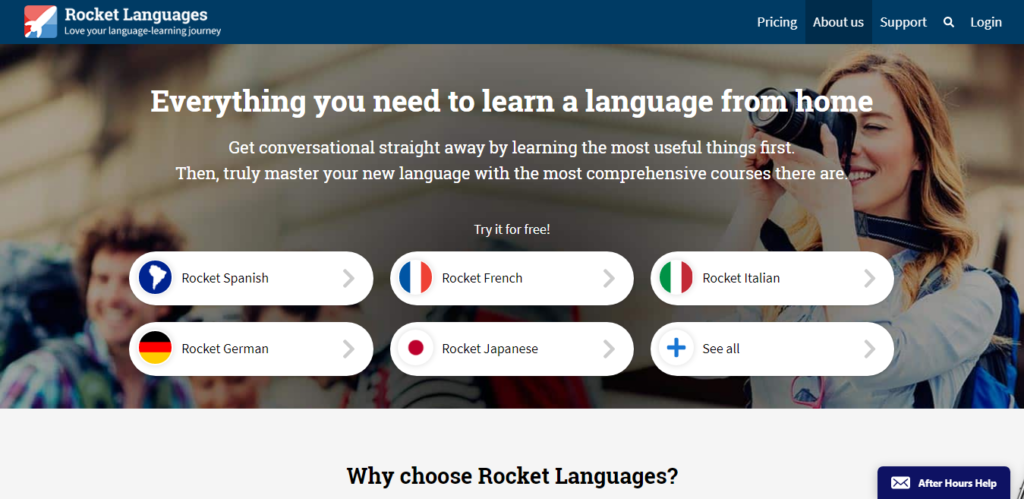 Rocket Language learning App