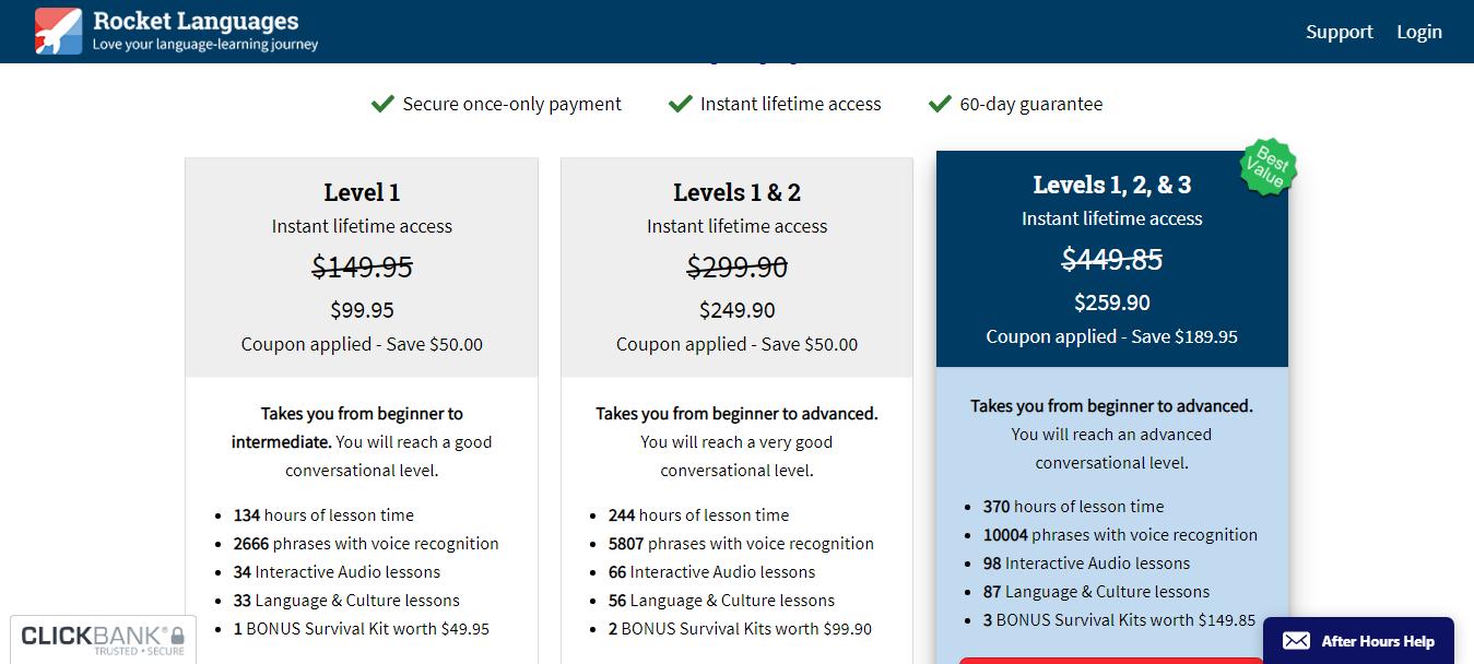 Rocket Languages Pricing Raeview