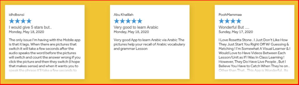 Rosetta Stone - Customer Review