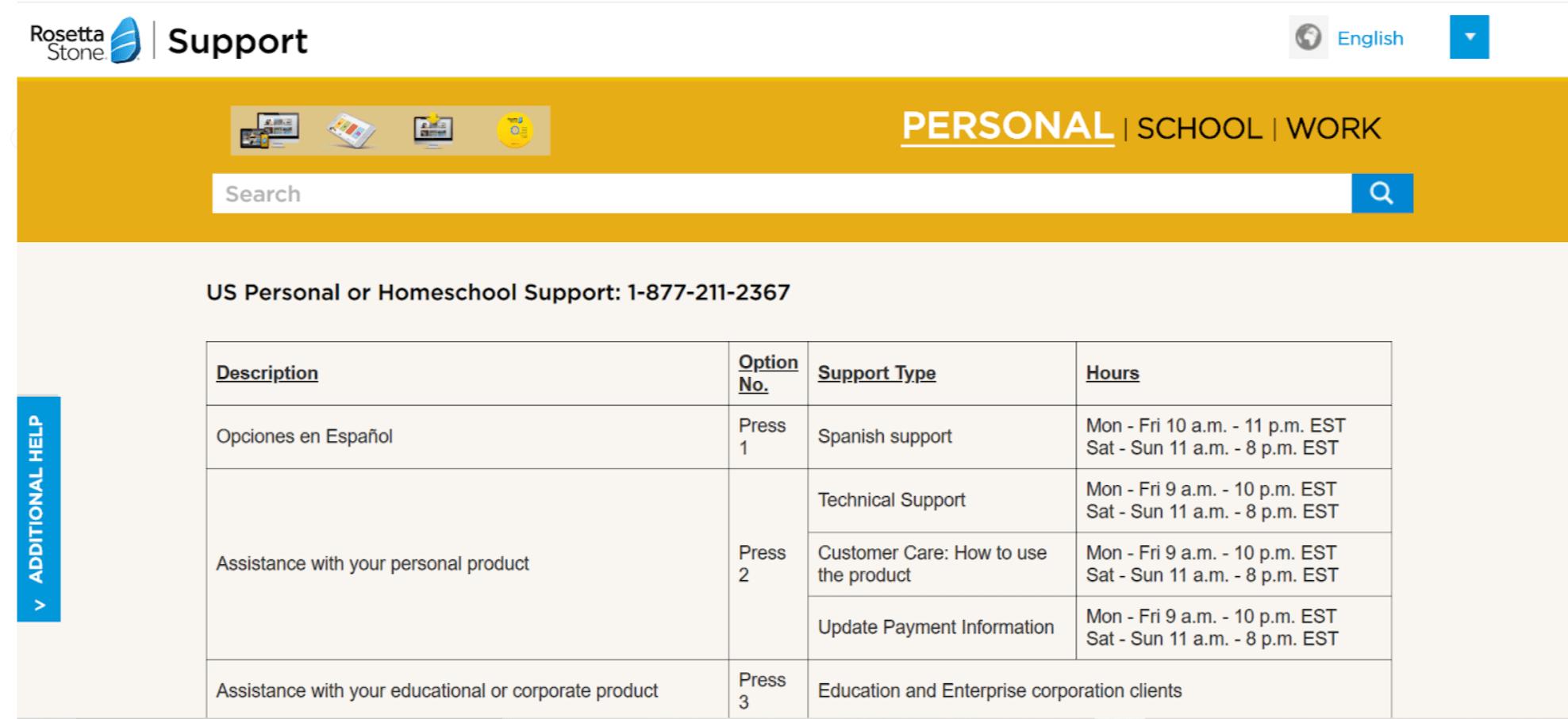 Rosetta Stone customer care