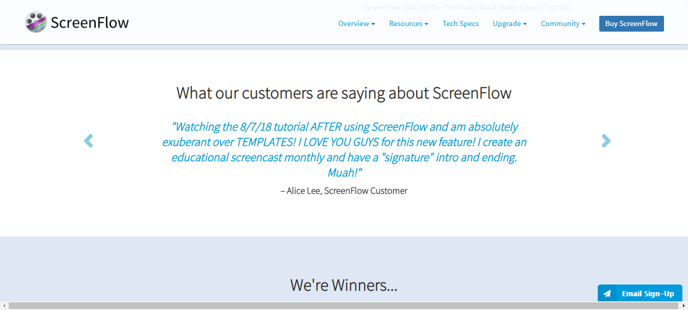 Screenflow Customer Reviews