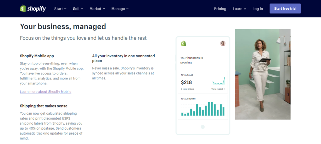 Shopify- E-commerce Features