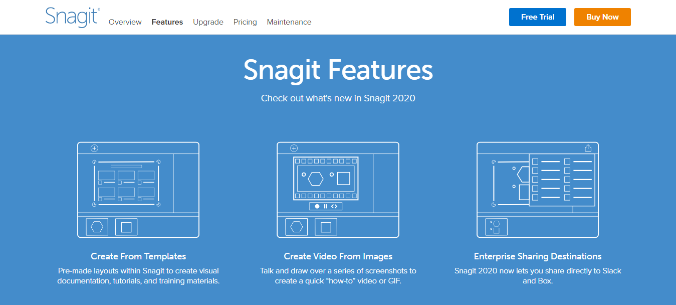 Snagit Features