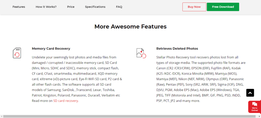Stellar photo recovery through Memory Card