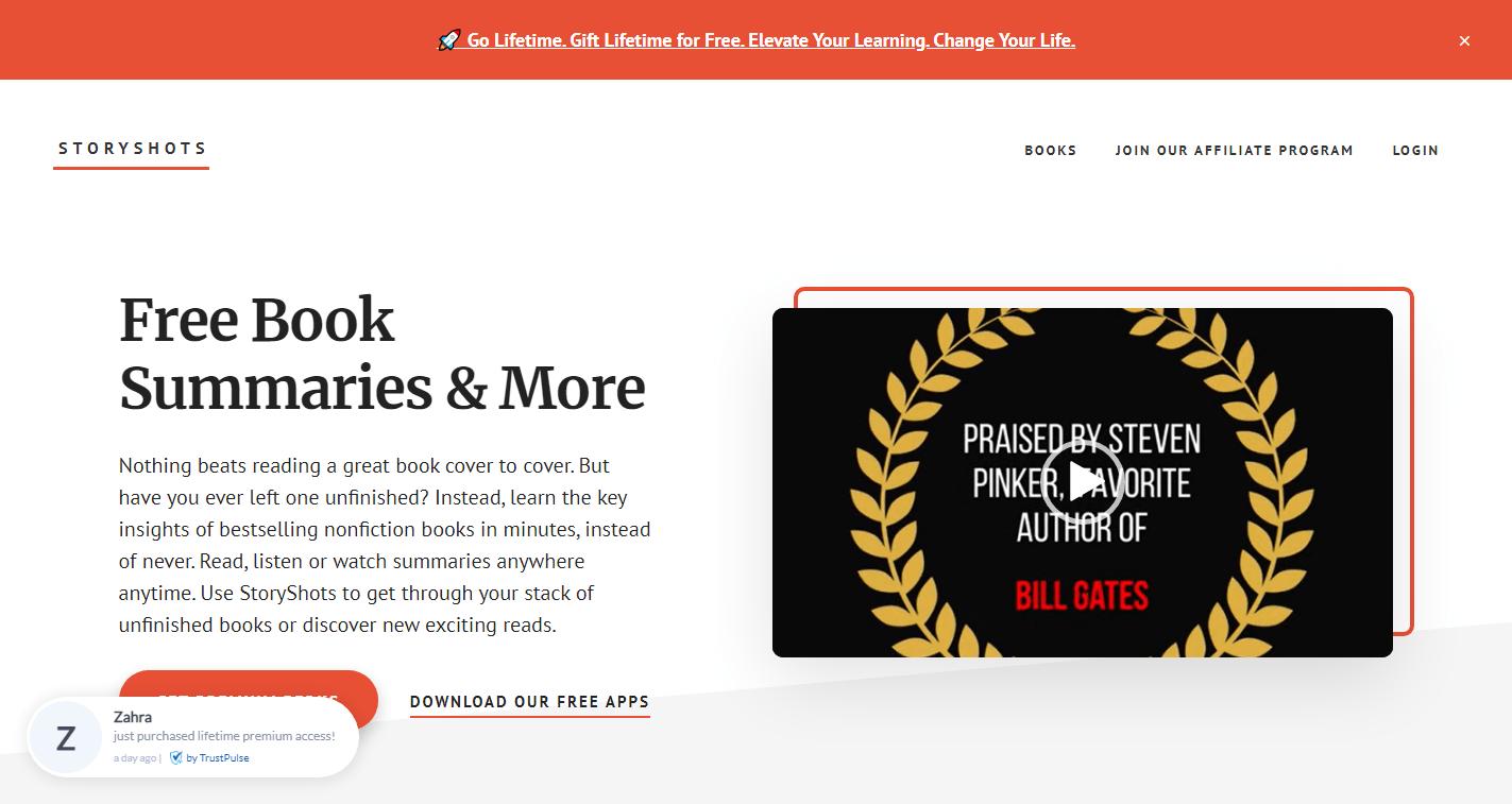 StoryShots - Blinklist Alternative
