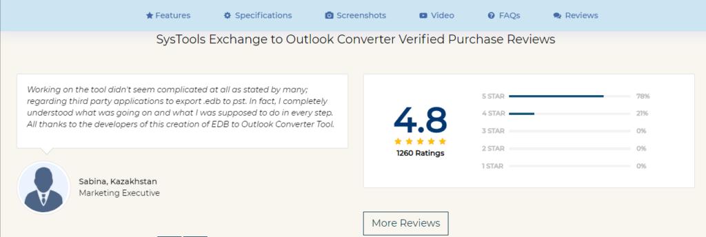 SysTools EDB Converter Reviews