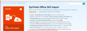 SysTools Office 365 Backup - SysTool